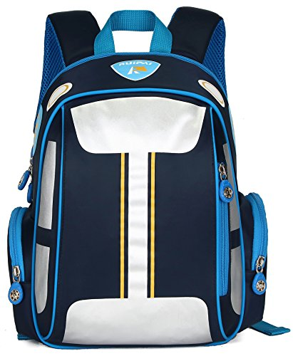 ArcEnCiel Car Backpack for Boys Toddler Bags Kids Bookbag (Blue)