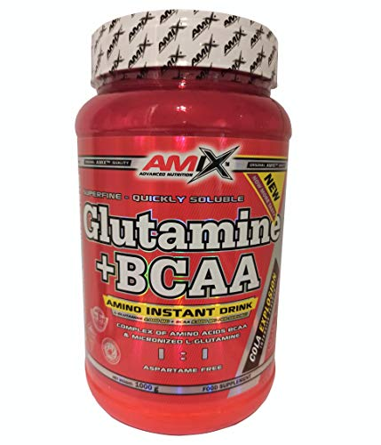 Amix Glutamine + BCAA Powder Superfine & Quickly Solubility, Muscle Building and Recovery Protein Powder with Micronized L-Glutamine and Amino Acids BCAA (Cola Explosion, 1000 g)