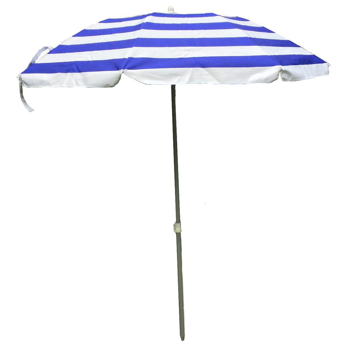 Spiaggia Parasole Spiaggia Giallo Ombrello Parasole Con Tasche Rettangolare Giallo e Bianco a strisce 120/x 180/cm