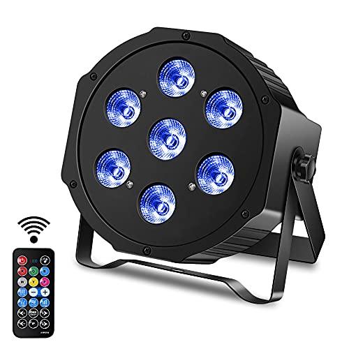 7 LED de luz de escenario DMX512 foco de iluminación de discoteca con control remoto para escenario, fiesta, fiesta, Navidad, Halloween