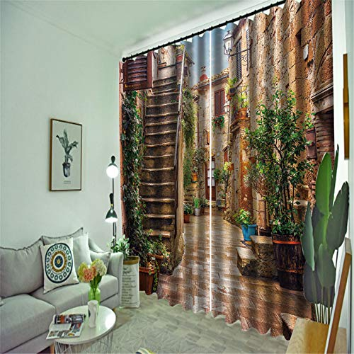 FACWAWF Cortinas Opacas De Material De Poliéster para Sala De Estar, Dormitorio, Balcón, Cortinas 184x160cm(2pcs)