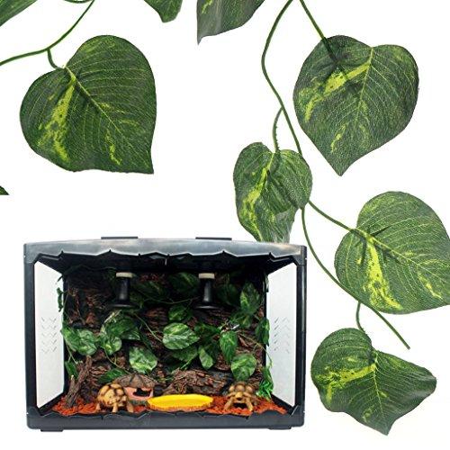 Yanhonin Deko-Terrarium, Weinrebe, künstliche Pflanze, Dekoration für Reptilien, Amphibien