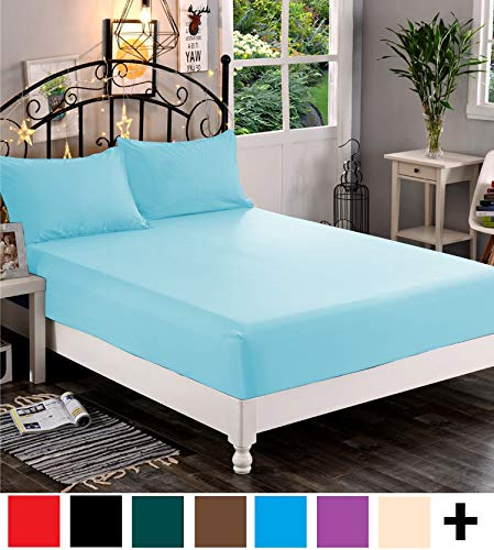 Premium Hotel Quality 1-Piece Fitted Sheet, Luxury & Softest 1500 Thread Count Egyptian Quality Bedding Fitted Sheet Deep Pocket up to 16inch, Wrinkle and Fade Resistant