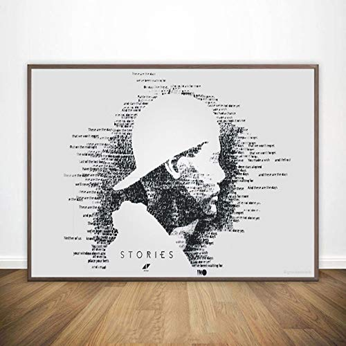 koushuiwa Poster Art Print Wall Posters Avicii Legend DJ Music Singer Star Wall Art Picture Canvas Painting Ac2309 Unframed 50X70Cm