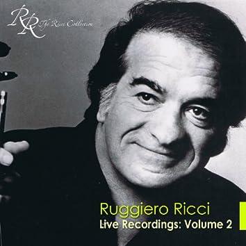 Violin Recital: Ricci, Ruggiero - Beethoven, L. Van / Franck, C. / Arnold, M. / Bull, O.B. / Liszt, F.