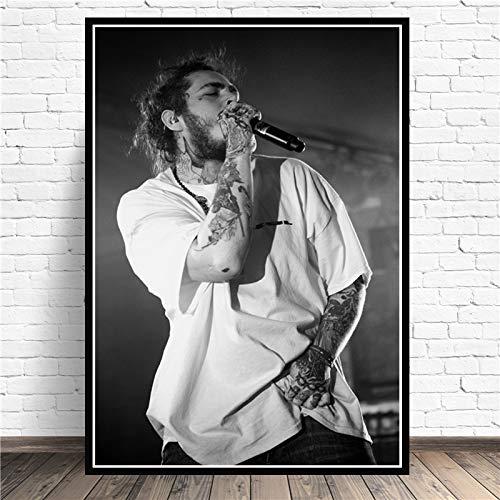 supmsds Kein Rahmen Geschenk Post Malone Hip Hop Rapper Musik Sänger Star Poster Druck Gemälde Wandkunst Leinwand Bild Living Home Room Decor