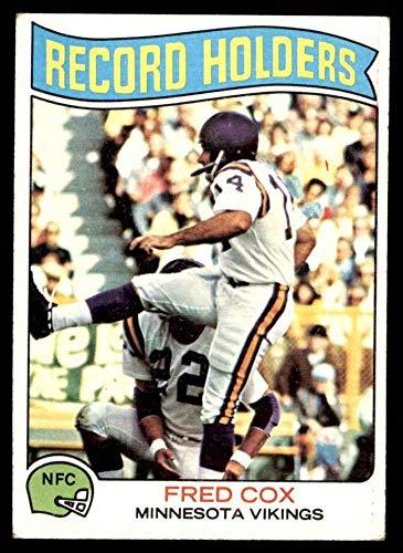 1975 Topps # 352 Record Breaker Fred Cox Minnesota Vikings (Football Card) EX Vikings Pittsburgh
