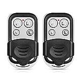KERUI RC528 Mando a Distancia Control Remote para Sistema de Alarma Antirrobo Hogar Inalámbricas con 4 Botones, 433MHz, Armar/Desarmar/Armar para Casa/SOS, Pilas Incluidas(2PCS)