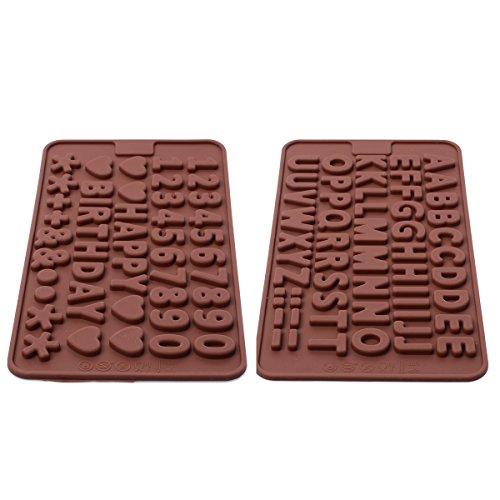 Xcellent Global Buchstaben / Zahlen / Symbole Gießform für Eis / Schokolade Verzierung Silikon Gießform verschiedene Farben M-HG009