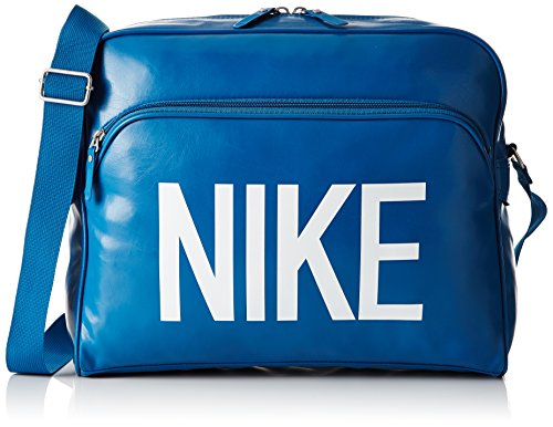 Nike, Borsa a Tracolla Heritage AD, Blu (Brigade Blue/Brigade Blue/White)