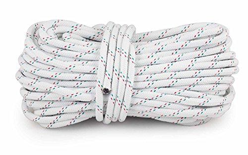 wellenshop Ankerleine 30 m 10 mm Festmacher Boot Widerstandsfähig und UV-beständig. Leinenfarbe Weiß mit Farbkennung.