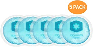 IceWraps Reusable Hot Cold Gel Packs NO Cloth Backing - Set of 5 Hot Cold Compress for Injury Pain Relief, Boo Boo Pack, Breastfeeding, Nursing Pad, or First Aid