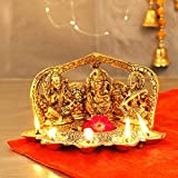 TIED RIBBONS Lakshmi Ganesh Saraswati Idol Statue Murti, Metal Home Decor and Gifts - Diwali Decorations for Home and Diwali Gifts