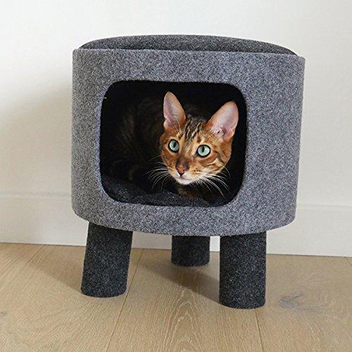 Rosewood 40147 Stylische Und Moderne Katzenhöhle Und Liegefläche Anthrazit Aus Filz Und Sisal