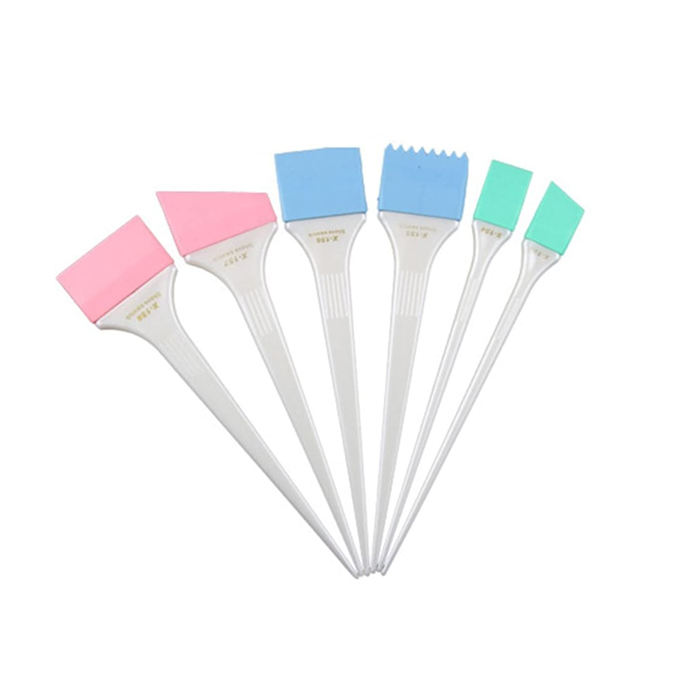 ギャング砂利子供達WINOMO ハイライトコーム ヘアダイブラシ 染色コーム ヘアカラーブラシツール サロン 染色 ヘアカラー シリコーン ヘアミキシングセット 6個セット(ホワイト)