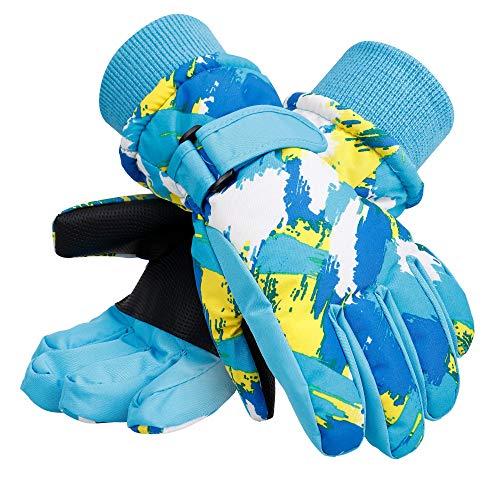Galexia Zero Kids Winter Windproof Thinsulate Lining Snow Ski Gloves Graffiti S