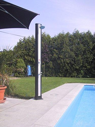 Ducha solar Deluxe con mezclador monomando y grifo de extracción