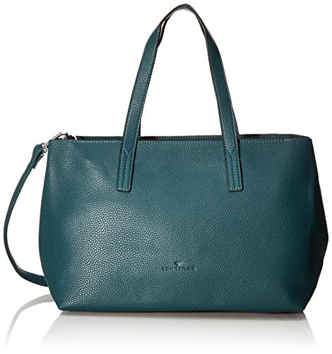 TOM TAILOR Shopper Damen, Petrol, Marla, 34x12x21 cm, TOM TAILOR, Handtasche, Umhängetasche