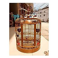 鳥かご ケージ 鳥かご四川ぶり鳥ケージChengduスレイシング鳥ケージguizhou鳥ケージ竹ケージ手作り竹ケージ オカメインコ カナリア コニュア ラブバード (Color : A, Size : 38)