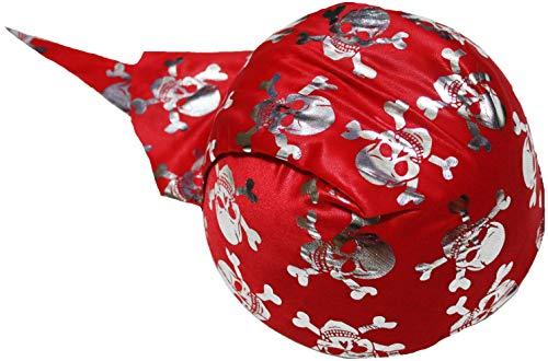 Petitebelle Rood Zilver Piraat Hoed Unisex Kinderen Kostuum