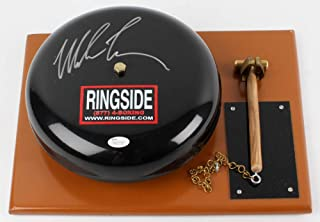 Mike Tyson Signed Autograph RARE Boxing Ring Bell JSA Witnessed Certified