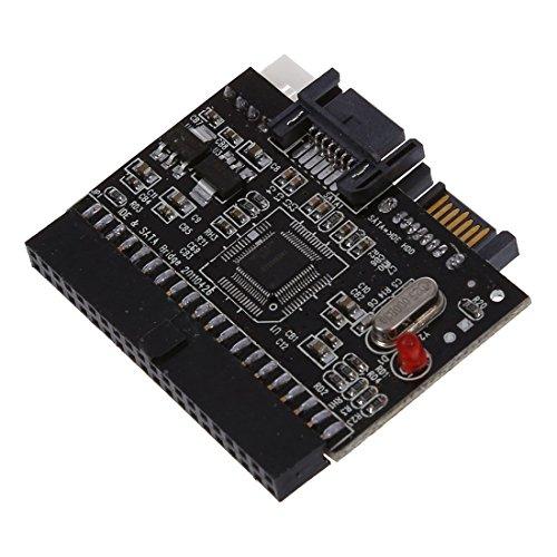 Cobeky Adaptador bidireccional SATA Serial ATA a IDE, color rojo y negro
