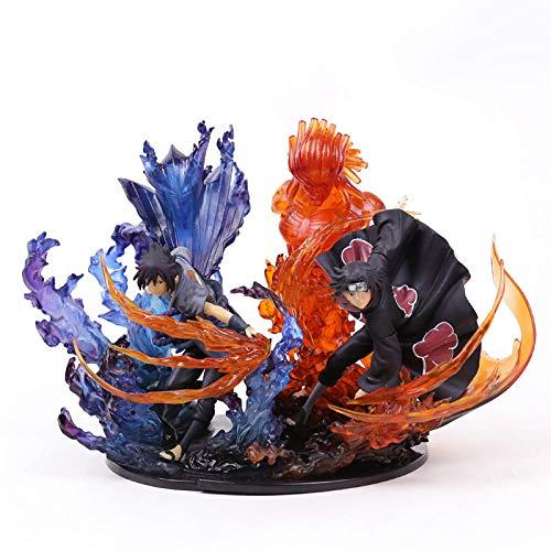 MNZBZ Naruto Uchiha Itachi Sasuke Susanoo Kizuna Relación PVC Figura de colección Modelo de juguete-2pcs / Set