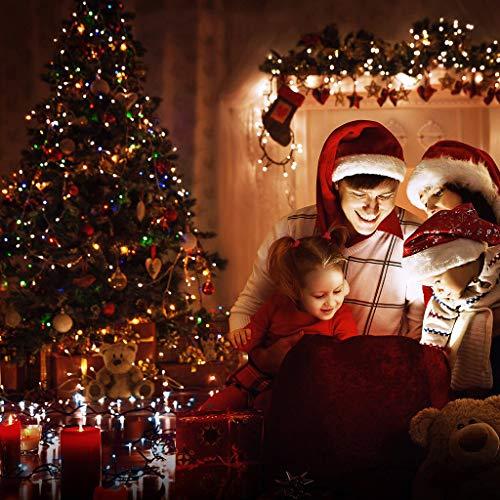 FBGood Modes LED Solaire Guirlandes Lumineuses Rideau Fenêtre Chaîne de Lampes pour Décoration Noël Fête Mariage Anniversaire Maison Jardin Lumière (Jaune)