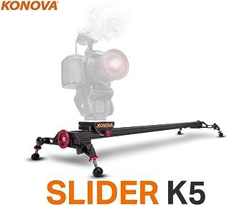 Konova Slider K5 120 (47.2 inch) Track Aluminum Solid Rail Roller Bearing for Smooth Slide for Camera, Gopro, Mobile Phone...