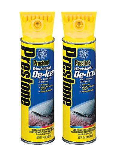 Prestone AS244 Windshield De-Icer - 17 oz. Aerosol (TWIN PACK)