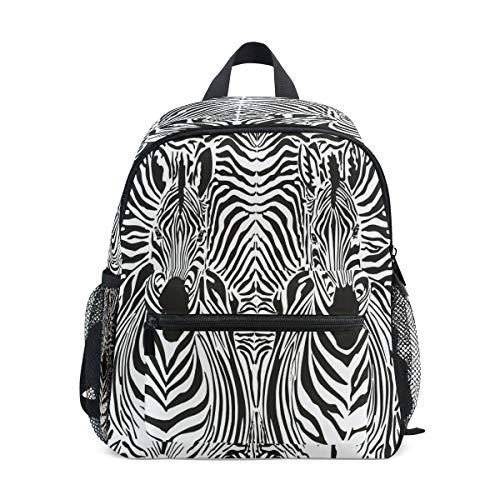 Chvon Kinder-Rucksack mit abstraktem Vintage-Zebra-Gemälde, Kinder-Büchertasche mit Brustgurt, Kindergarten Vorschule Kleinkind Schultasche für Jungen und Mädchen