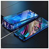 Case Vivo NEX 2 Dual Display Magnetic Adsorption Tech Case Unibody Design Front Back Tempered Glass Strong Magnets Built-in Hybrid Aluminum Frame Protective Shockproof Metal Flip Cover