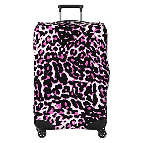 Modern Safari Fur Suitcase Cover Protector Skin Pink Large 30' - 32' (Suitcase Not Included)