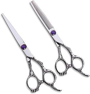 Barber Scissors Professional Hairdressing Thinning Scissors Set 440C Dragon Handle Hair Scissors 6 Inch Diamond Salon Barb...