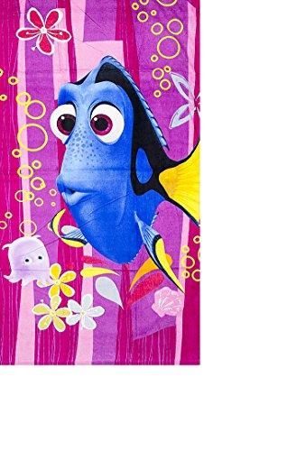 Toalla de playa multicolor con Dory en color azul, 70x 140cm, 100% algodón