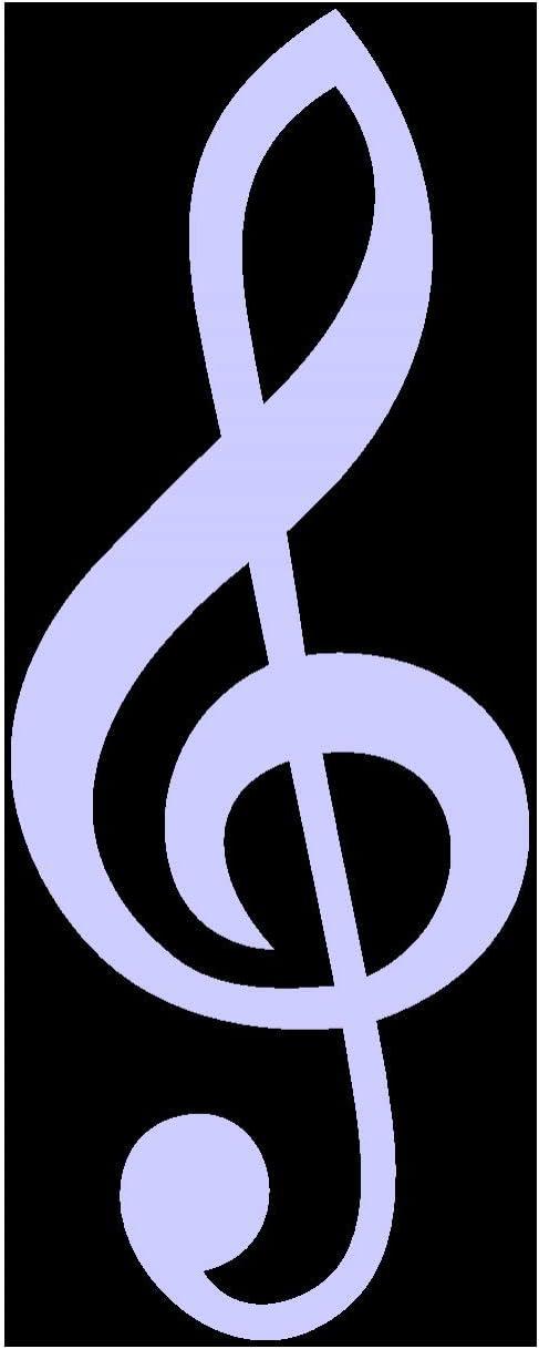 Samunshi Violinschlüssel Aufkleber Notenschlüssel In 7 Größen Und 25 Farben 5 8x15cm Schwarz Küche Haushalt