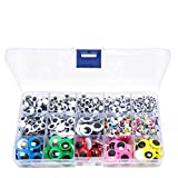 1500pcs Googly Wiggle Eyes Self Adhesive, for Craft Sticker Multi Colors and Sizes for DIY by ZZYI