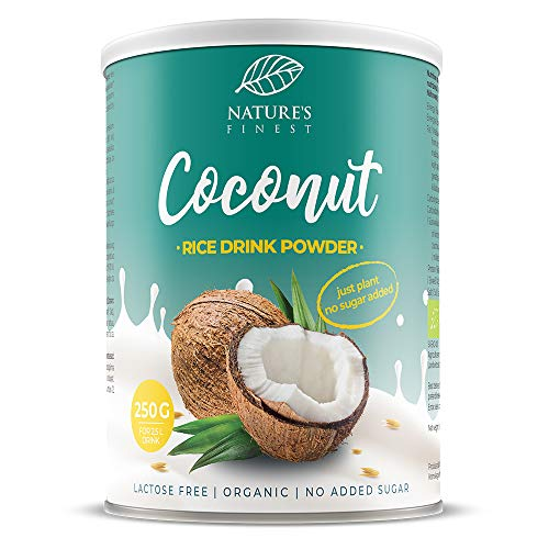 Nature's Finest Boisson Riz Bio Noix de Coco en poudre 250g | Produit 2,5 l de Lait Vegétal Bio Délicieux | Convient aux Vegans et Végétariens