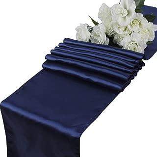 VDS - 5 PCS 12 x 108 inch Satin Table Runner for Wedding Banquet Décor Runners Charmeuse Silk Table Runner - Navy Blue