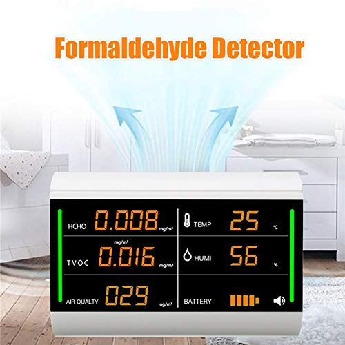 DZSF Digital Screen Heimluftdetektor Formaldehyde Tester USB Aufladbare TVOC HCHO Benzen/Staub/Temperatur/Feuchte-Messinstrument