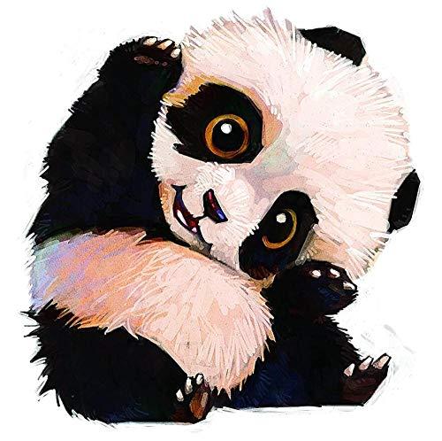 Pintura De Diamante Personalizada 5D Decoración De La Pared Del Hogar Kit De Pintura De Regalo Punto Palo Descompresión Juguete,Panda Lindo(70x90cm)