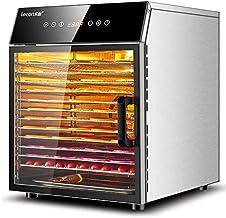 12 inoxydable Plateau séché, minuterie 24 heures, température réglable: 35~90 ℃, écran LCD, 1000W fruits et légumes secs, ...