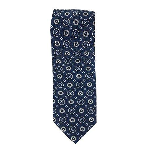 Cotton Park - Cravate 100% soie bleue marine - Homme