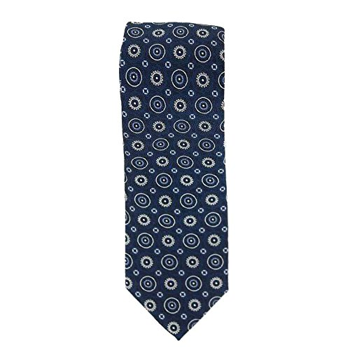 Cotton Park - Cravate 100% soie bleue marine - Homme