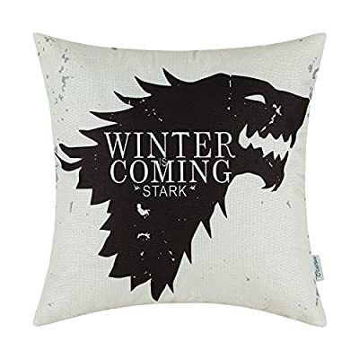 CaliTime Game of Thrones Houses Badages 45cm x 45cm Cushion Covers Throw Pillow Cases Protector Shells for Couch Sofa Bedroom Home Christmas Décor