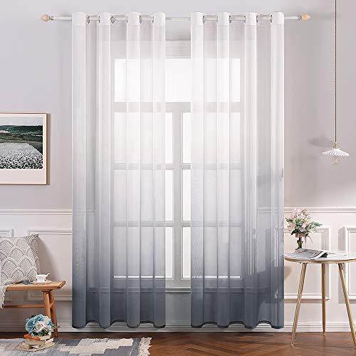cortinas salon grises dos piezas
