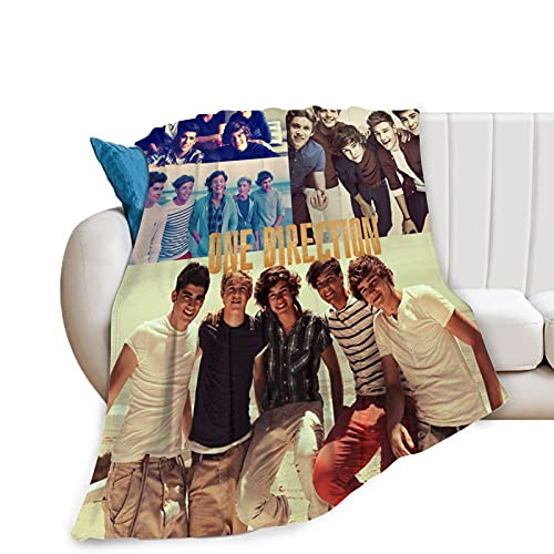 One Direction Blanket Manta de Franela Manta de Harry Syles Adecuado para niños Cama para Adultos Sofá Sofá Silla Hogar Coche Oficina Ligero Adecuado para Regalos de Cuatro Estaciones 100x130cm