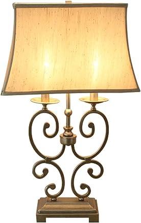 @テーブルランプ テーブルランプアメリカンリビングルームベッドルーム装飾的なベッドサイドランプ