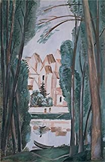 The High Quality Polyster Canvas Of Oil Painting 'Landscape With A Boat At The Bank,1915 By Andre Derain' ,size: 30x46 Inch / 76x117 Cm ,this Reproductions Art Decorative Prints On Canvas Is Fit For Gift For Bf And Gf And Home Artwork And Gifts
