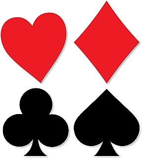 Las Vegas - Card Suits Decorations DIY Casino Party Essentials - Set of 20